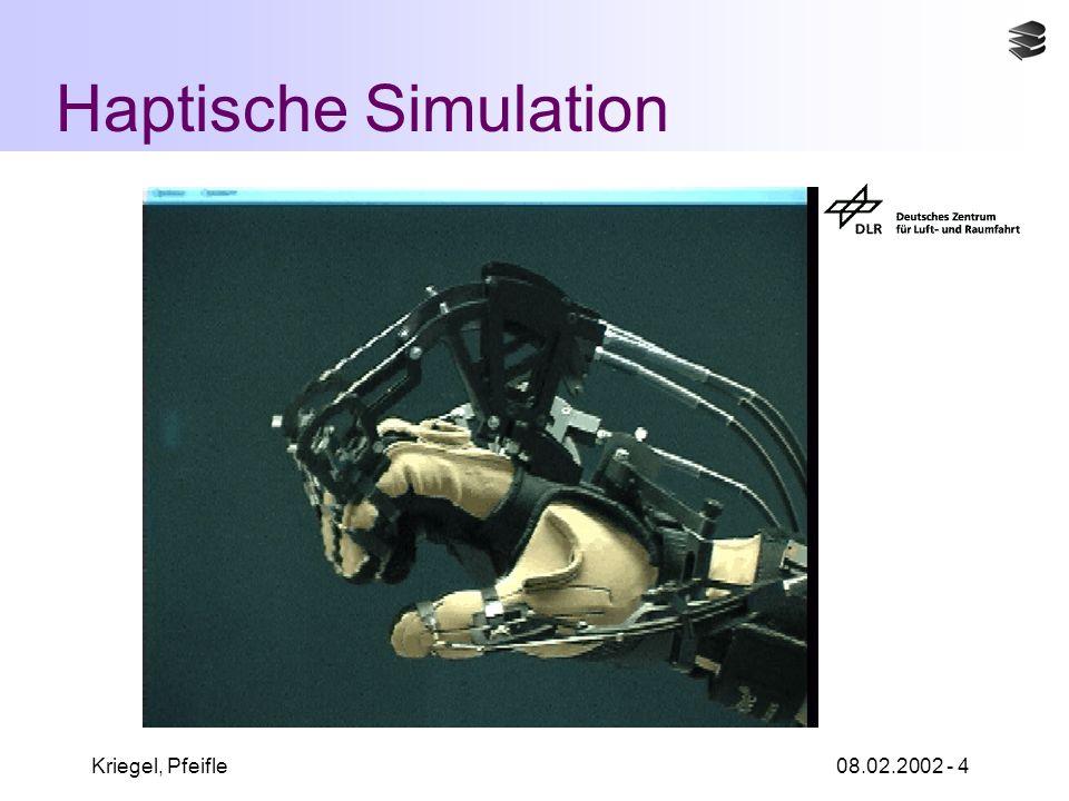 Kriegel, Pfeifle08.02.2002 - 4 Haptische Simulation