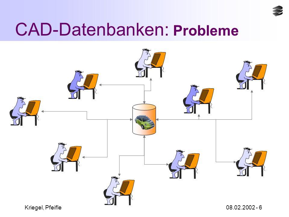 Kriegel, Pfeifle08.02.2002 - 6 CAD-Datenbanken: Probleme