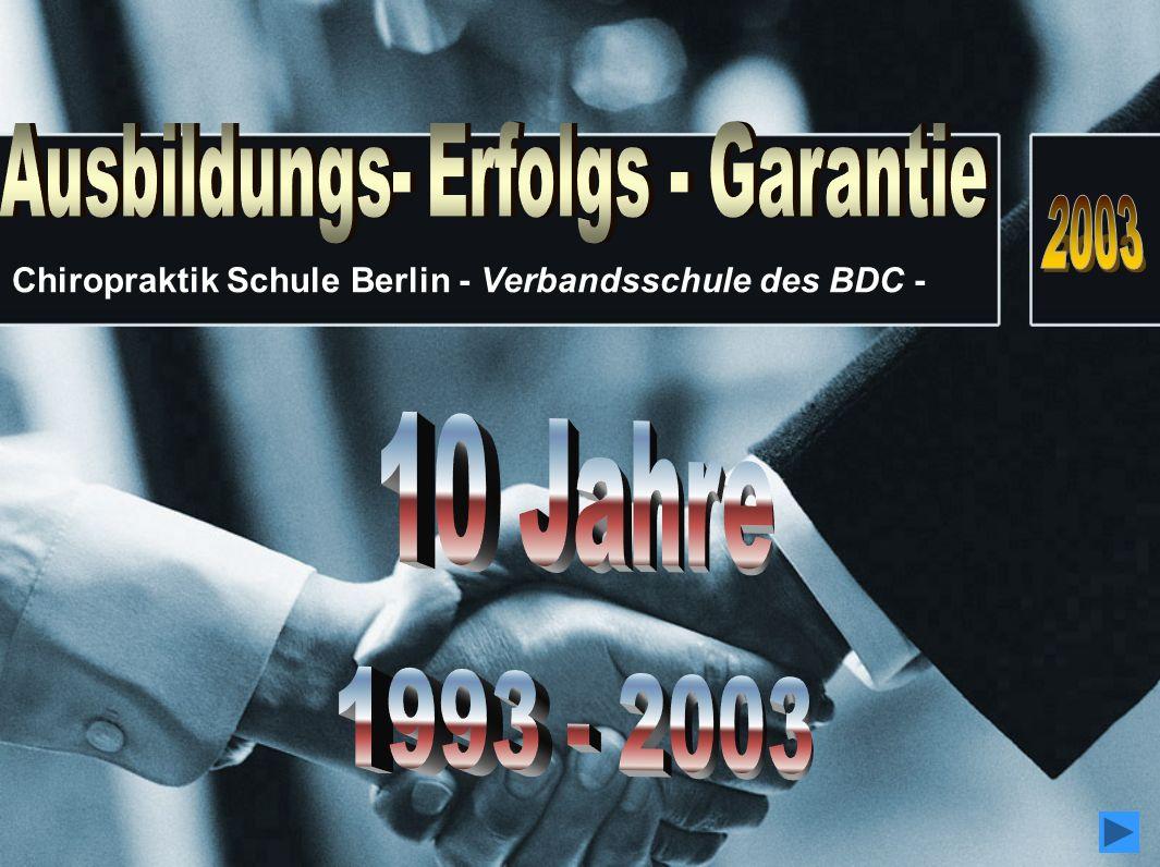 Chiropraktik Schule Berlin - Verbandsschule des BDC -