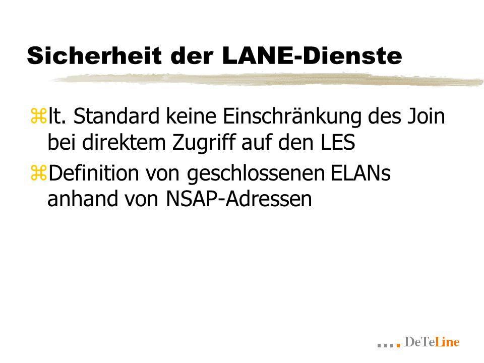 Sicherheit der LANE-Dienste zlt.