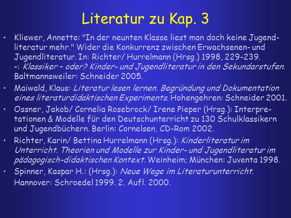 Literatur zu Kap. 3 Kliewer, Annette: