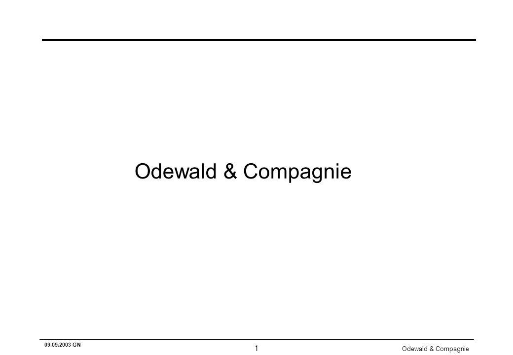 Odewald & Compagnie 1 09.09.2003 GN Odewald & Compagnie