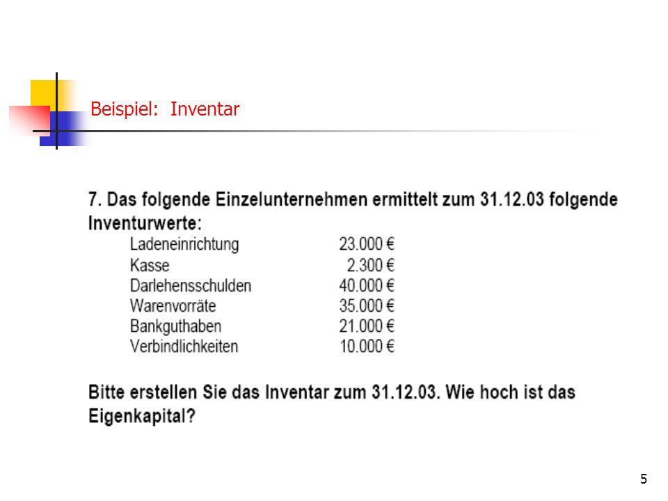 5 Beispiel: Inventar