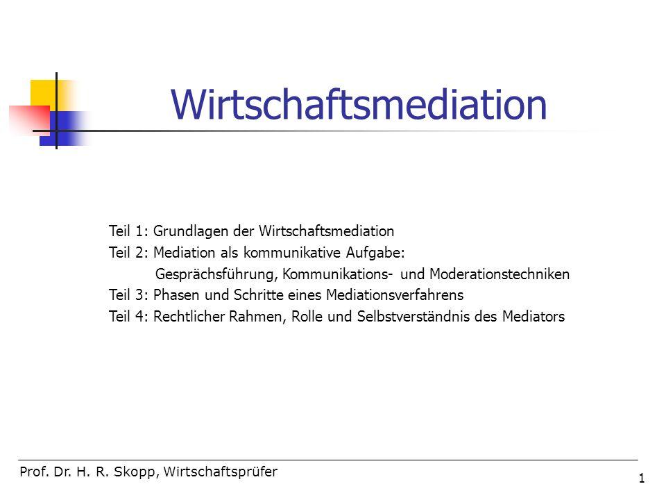 112 Umgang mit Experten und Gutachten in der Mediation Prof.