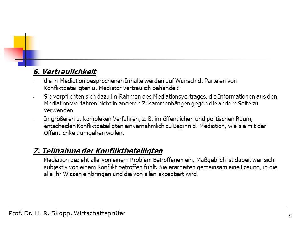 99 Teil 4: Rechtlicher Rahmen, Rolle und Selbstverständnis des Mediators Prof.