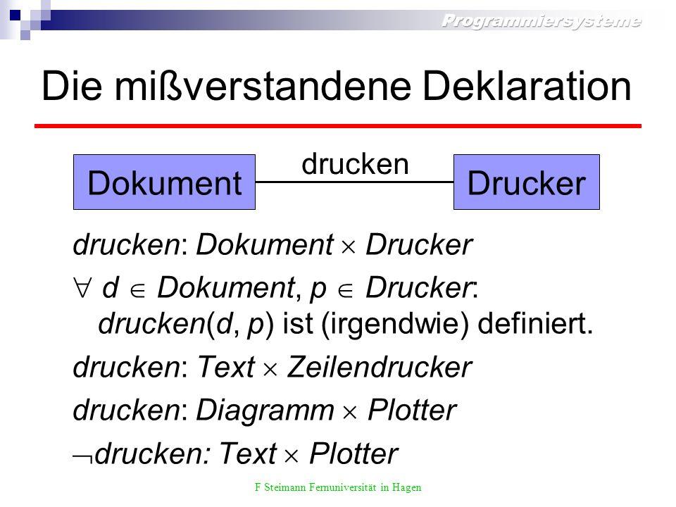 F Steimann Fernuniversität in Hagen Diskussion Grenzen der Modularität Probleme aus regelbasierten Systemen und funktionalen Programmiersprachen bekannt verwandte Arbeiten jede Menge.