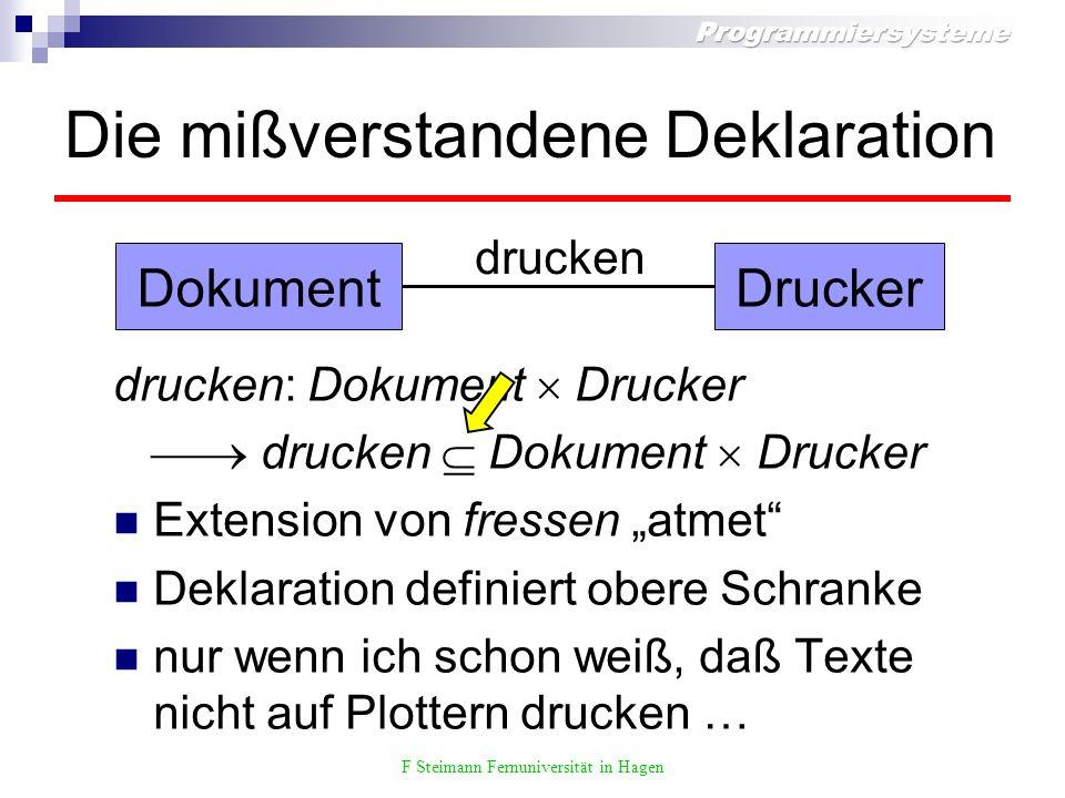 F Steimann Fernuniversität in Hagen Der Definitionsbereich hat Löcher.