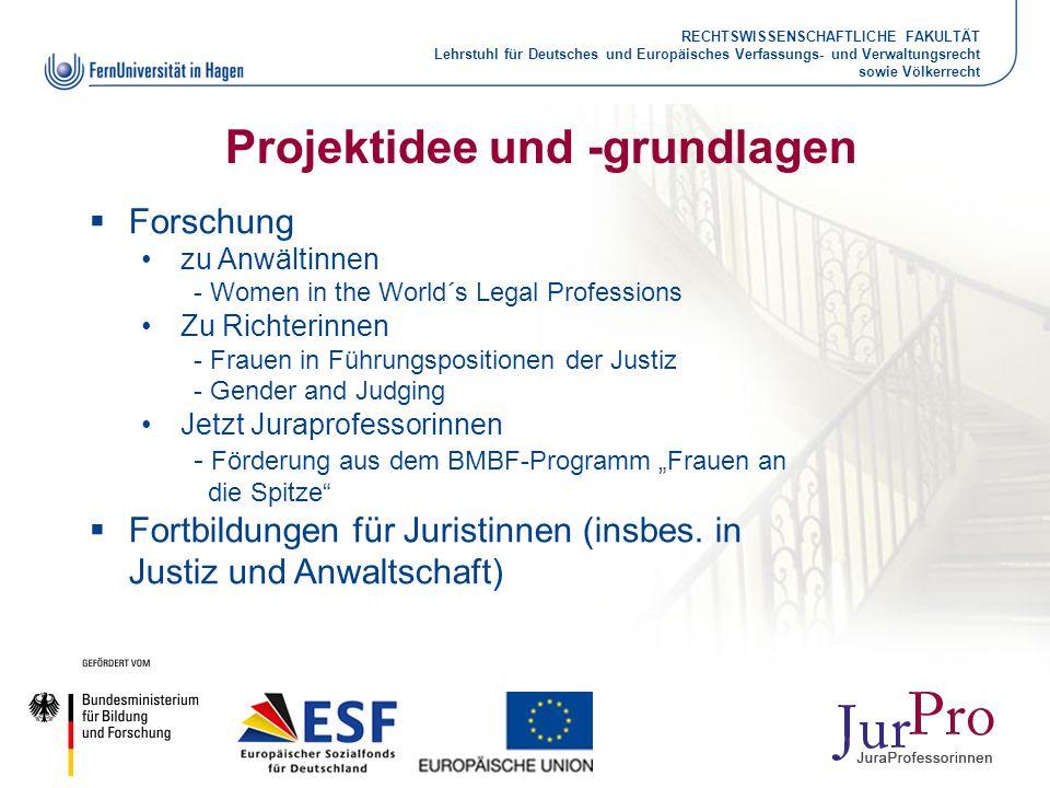 RECHTSWISSENSCHAFTLICHE FAKULTÄT Lehrstuhl für Deutsches und Europäisches Verfassungs- und Verwaltungsrecht sowie Völkerrecht Projektidee und -grundla