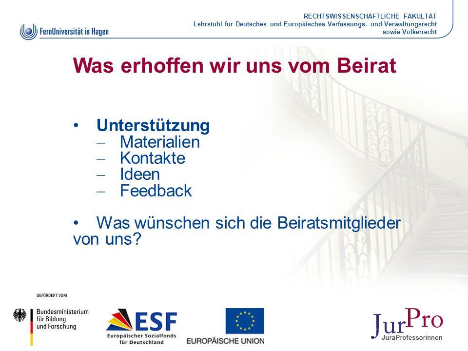 RECHTSWISSENSCHAFTLICHE FAKULTÄT Lehrstuhl für Deutsches und Europäisches Verfassungs- und Verwaltungsrecht sowie Völkerrecht Was erhoffen wir uns vom