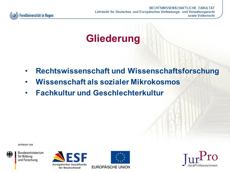 RECHTSWISSENSCHAFTLICHE FAKULTÄT Lehrstuhl für Deutsches und Europäisches Verfassungs- und Verwaltungsrecht sowie Völkerrecht Gliederung Rechtswissens