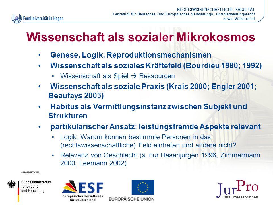 RECHTSWISSENSCHAFTLICHE FAKULTÄT Lehrstuhl für Deutsches und Europäisches Verfassungs- und Verwaltungsrecht sowie Völkerrecht Wissenschaft als soziale