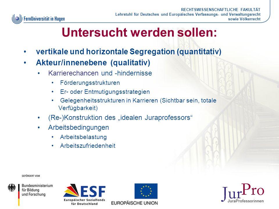 RECHTSWISSENSCHAFTLICHE FAKULTÄT Lehrstuhl für Deutsches und Europäisches Verfassungs- und Verwaltungsrecht sowie Völkerrecht Untersucht werden sollen