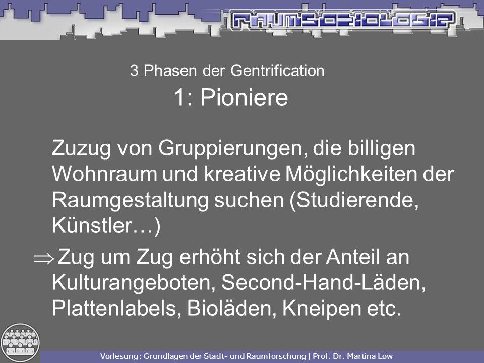 Vorlesung: Grundlagen der Stadt- und Raumforschung | Prof.
