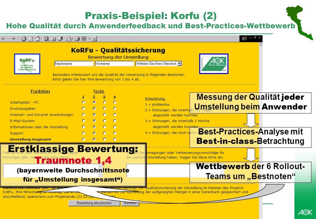 Professionelles Projektmanagement in der Praxis, © 2007 Dr. Harald Wehnes Universität Würzburg, FB Informatik, Prof. Dr. P.Tran-Gia 8 Praxis-Beispiel: