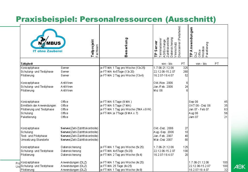 Professionelles Projektmanagement in der Praxis, © 2008 Dr. Harald Wehnes Universität Würzburg, FB Informatik, Prof. Dr. P.Tran-Gia 41 kubus-IT Praxis