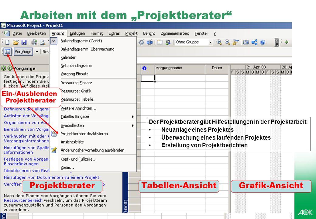 kubus IT Professionelles Projektmanagement in der Praxis, © 2008 Dr. Harald Wehnes Universität Würzburg, FB Informatik, Prof. Dr. P.Tran-Gia 8 Arbeite
