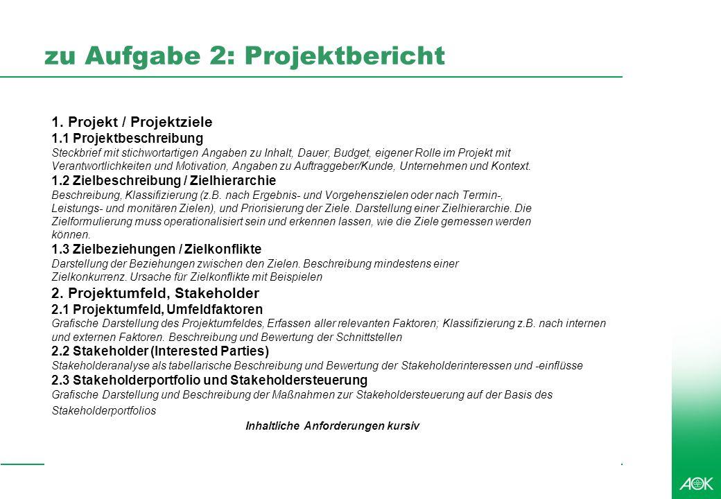 Professionelles Projektmanagement in der Praxis, © 2007 Dr. Harald Wehnes Universität Würzburg, FB Informatik, Prof. Dr. P.Tran-Gia 30 zu Aufgabe 2: P