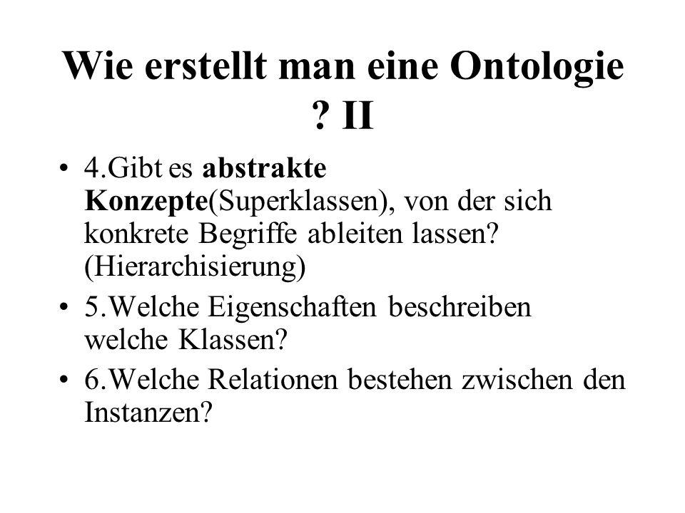 Wie erstellt man eine Ontologie .