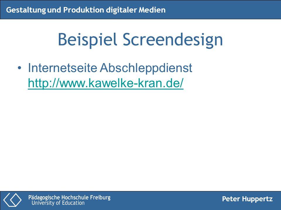 Peter Huppertz Gestaltung und Produktion digitaler Medien Beispiel Screendesign Internetseite Abschleppdienst http://www.kawelke-kran.de/ http://www.k