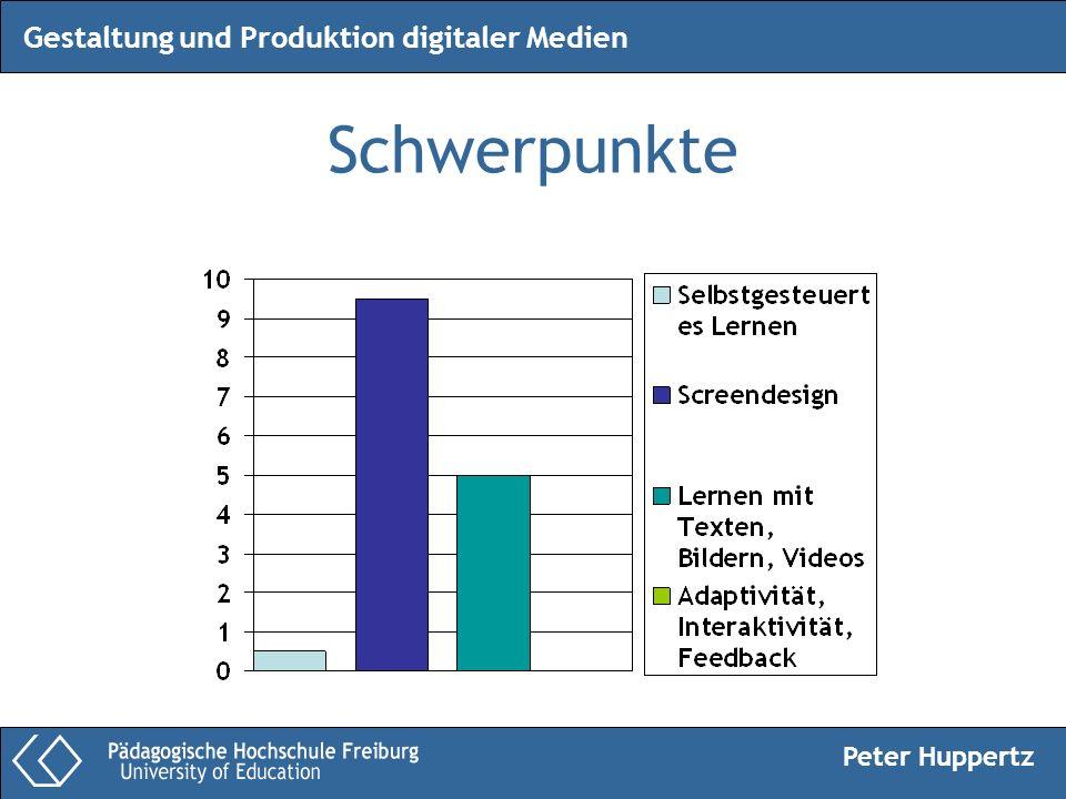 Peter Huppertz Gestaltung und Produktion digitaler Medien Schwerpunkte