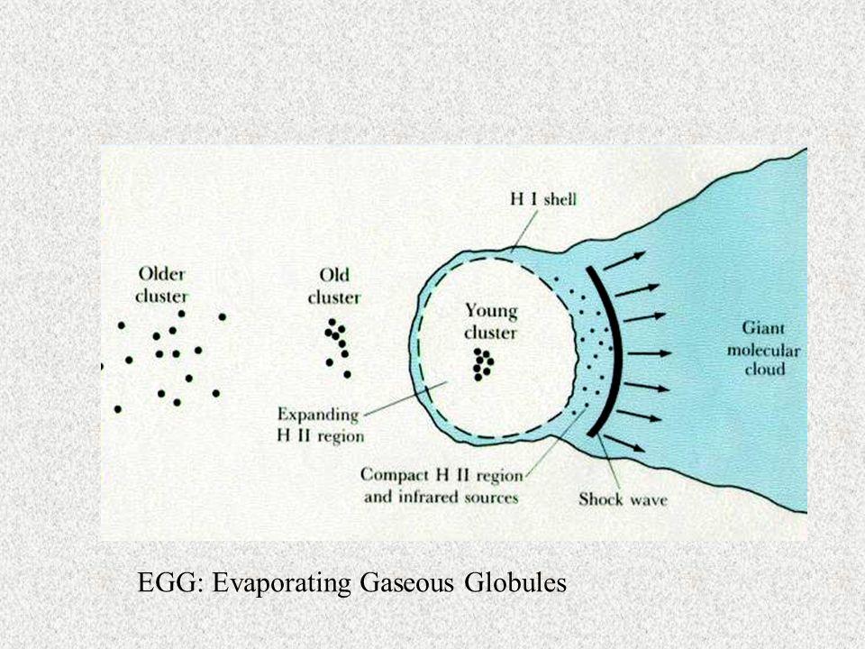 EGG: Evaporating Gaseous Globules