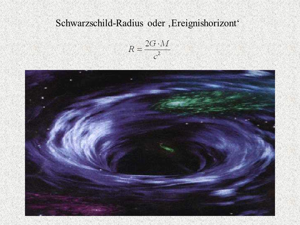 Schwarzschild-Radius oder Ereignishorizont