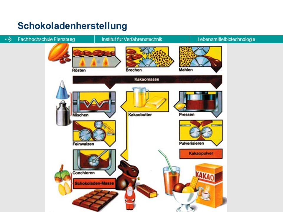 Fachhochschule FlensburgInstitut für VerfahrenstechnikLebensmittelbiotechnologie Schokoladenherstellung