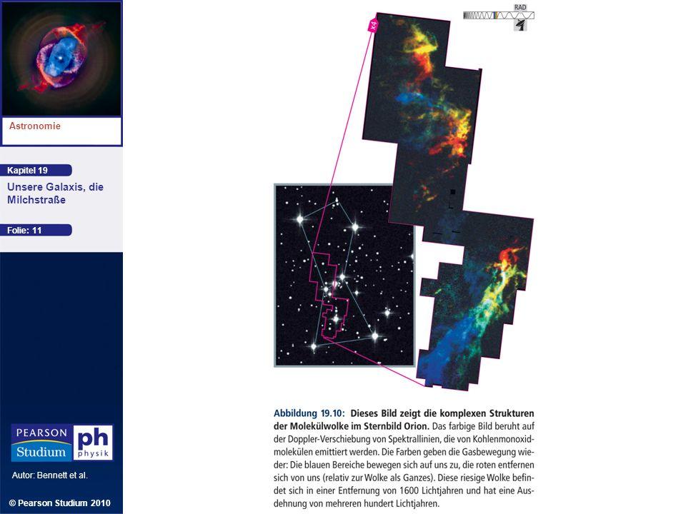 Kapitel 19 Astronomie Autor: Bennett et al. Unsere Galaxis, die Milchstraße © Pearson Studium 2010 Folie: 11