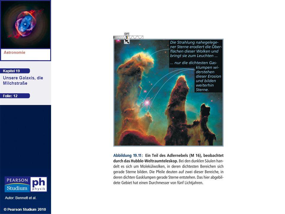Kapitel 19 Astronomie Autor: Bennett et al. Unsere Galaxis, die Milchstraße © Pearson Studium 2010 Folie: 12