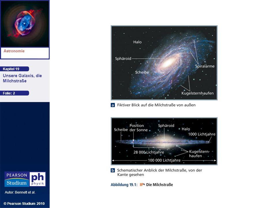 Kapitel 19 Astronomie Autor: Bennett et al. Unsere Galaxis, die Milchstraße © Pearson Studium 2010 Folie: 2