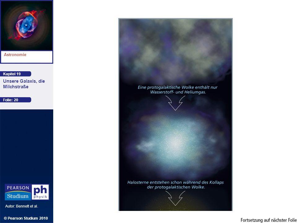 Kapitel 19 Astronomie Autor: Bennett et al. Unsere Galaxis, die Milchstraße © Pearson Studium 2010 Folie: 20