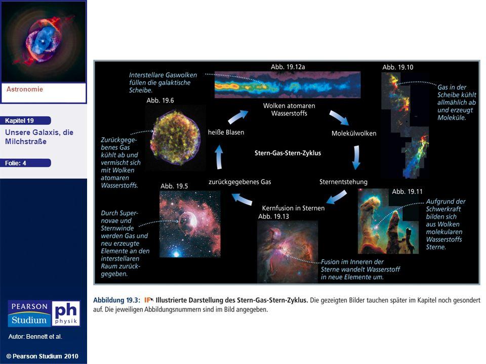 Kapitel 19 Astronomie Autor: Bennett et al. Unsere Galaxis, die Milchstraße © Pearson Studium 2010 Folie: 4