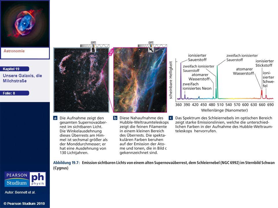 Kapitel 19 Astronomie Autor: Bennett et al. Unsere Galaxis, die Milchstraße © Pearson Studium 2010 Folie: 8