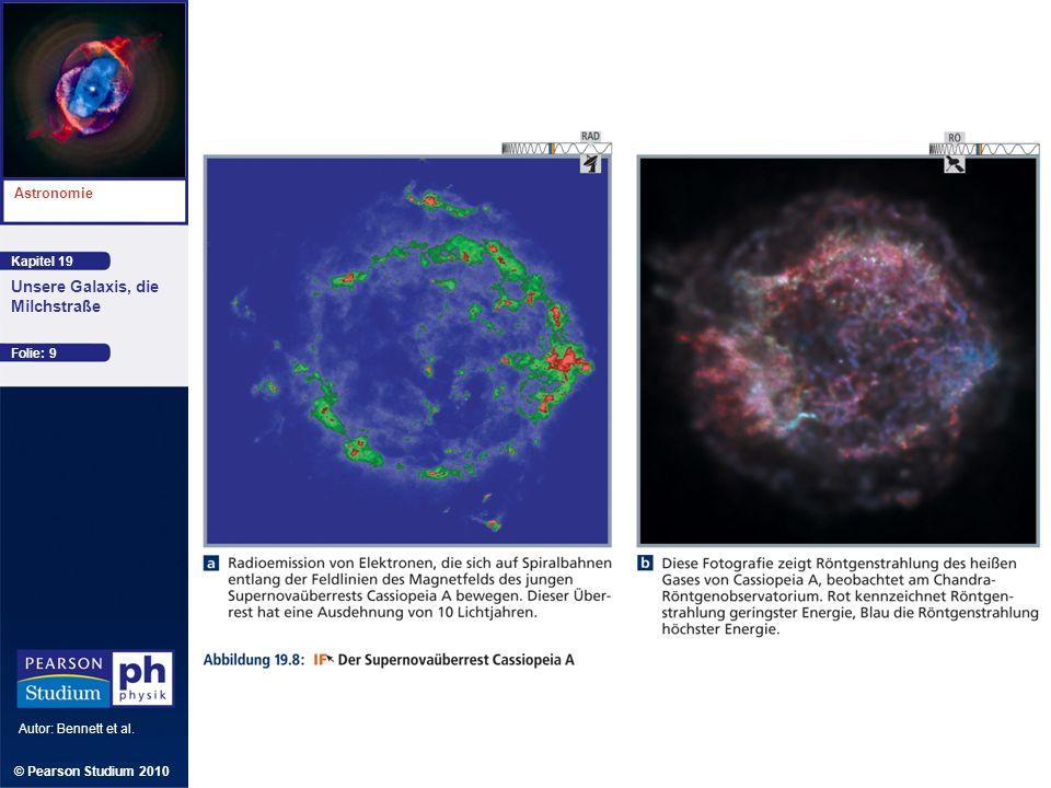 Kapitel 19 Astronomie Autor: Bennett et al. Unsere Galaxis, die Milchstraße © Pearson Studium 2010 Folie: 9
