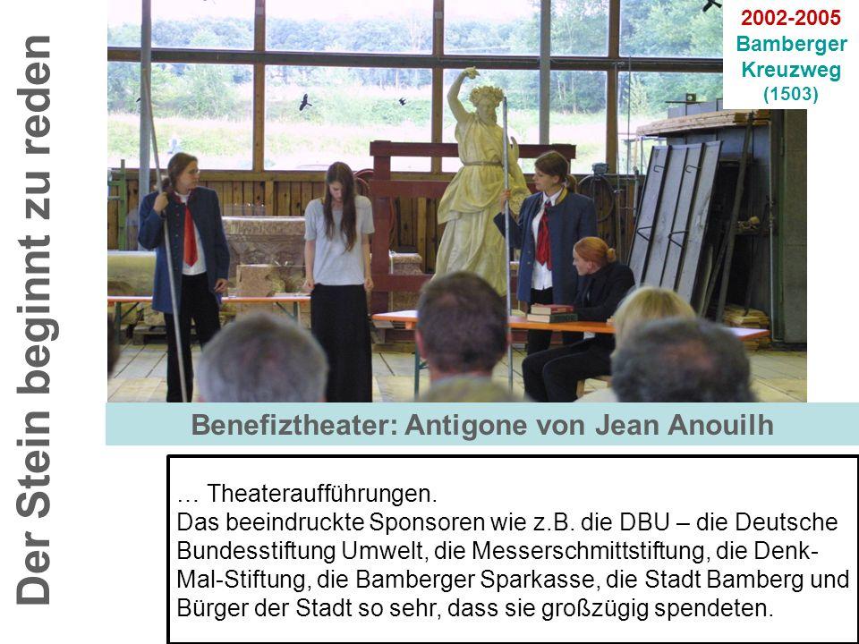 Der Stein beginnt zu reden 2002-2005 Bamberger Kreuzweg (1503) … Theateraufführungen. Das beeindruckte Sponsoren wie z.B. die DBU – die Deutsche Bunde