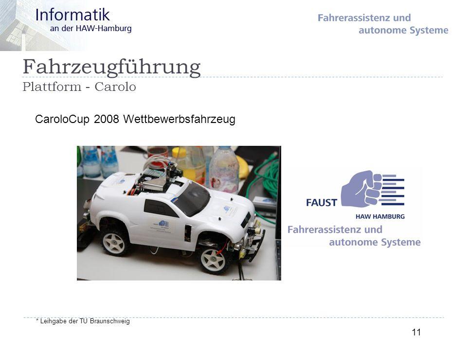 Fahrzeugführung Plattform - Carolo 11 CaroloCup 2008 Wettbewerbsfahrzeug * Leihgabe der TU Braunschweig