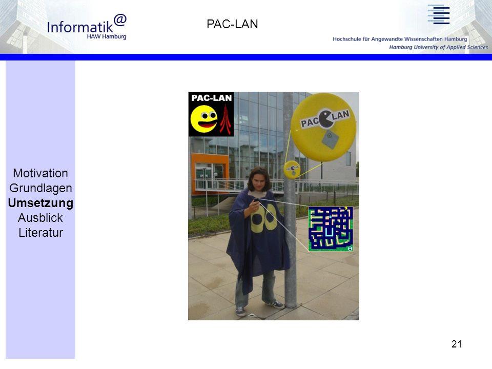 21 PAC-LAN Motivation Grundlagen Umsetzung Ausblick Literatur