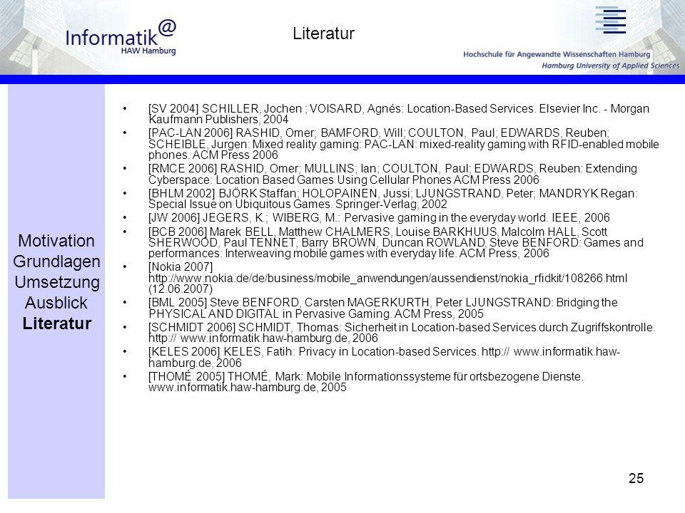 25 [SV 2004] SCHILLER, Jochen ; VOISARD, Agnés: Location-Based Services.