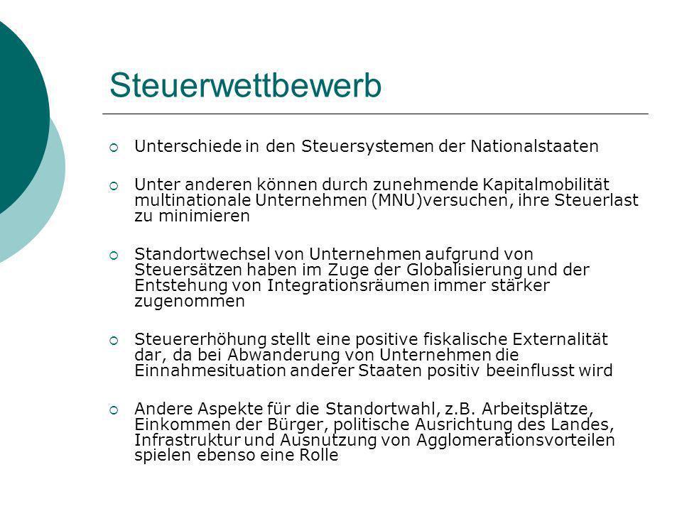 Steuervermeidungsstrategien Legale Methoden: Abwanderung ins Ausland Unternehmen gründet Tochtergesellschaft im Niedrigsteuerland.