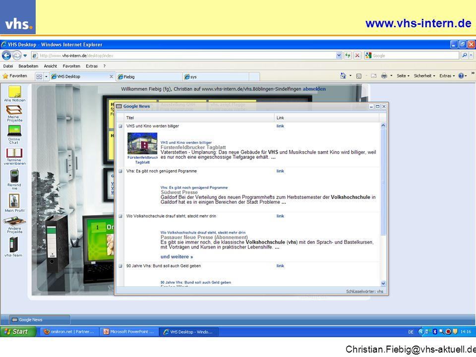 Christian.Fiebig@vhs-aktuell.de www.vhs-intern.de