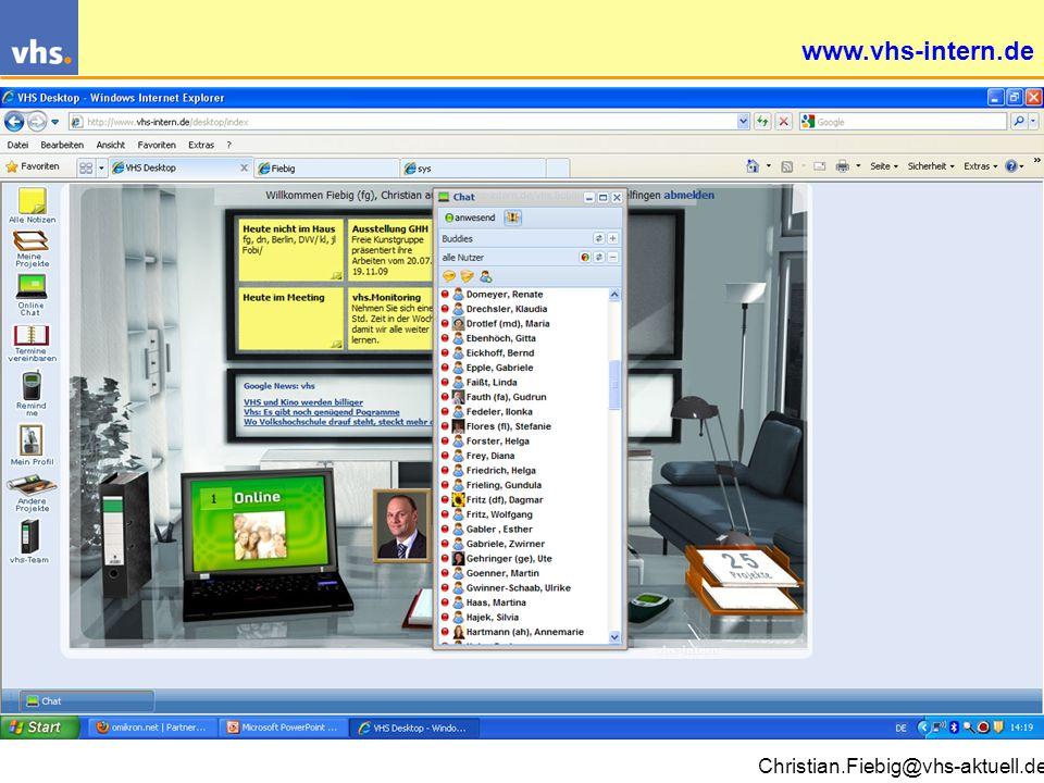 Christian.Fiebig@vhs-aktuell.de Wie und mit wem unsere Kunden digital kommunizieren wollen