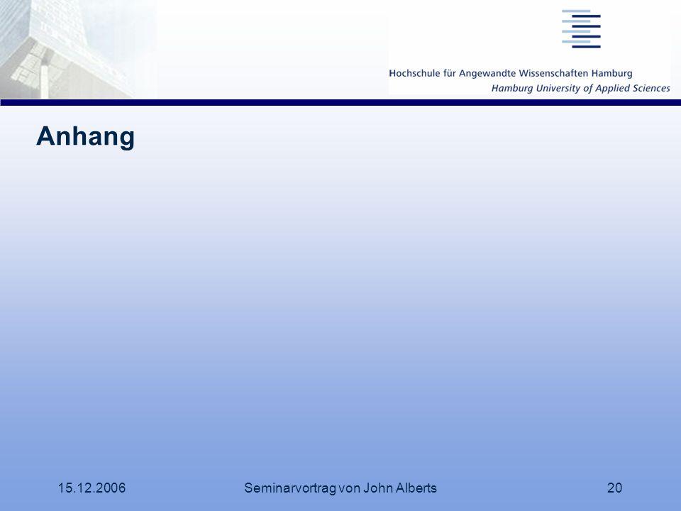 15.12.2006Seminarvortrag von John Alberts20 Anhang