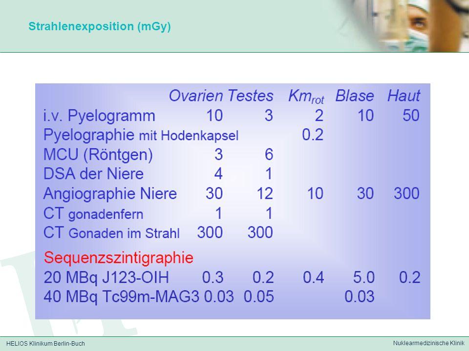 HELIOS Klinikum Berlin-Buch Nuklearmedizinische Klinik Strahlenexposition (mGy)