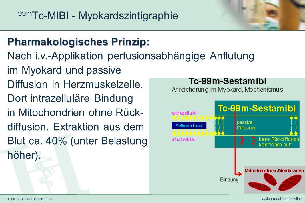 HELIOS Klinikum Berlin-Buch Nuklearmedizinische Klinik 201 Tl-Chlorid - Myokardszintigraphie 201 Thallium Besonderheiten: Lange HWZ führt zu relativ h