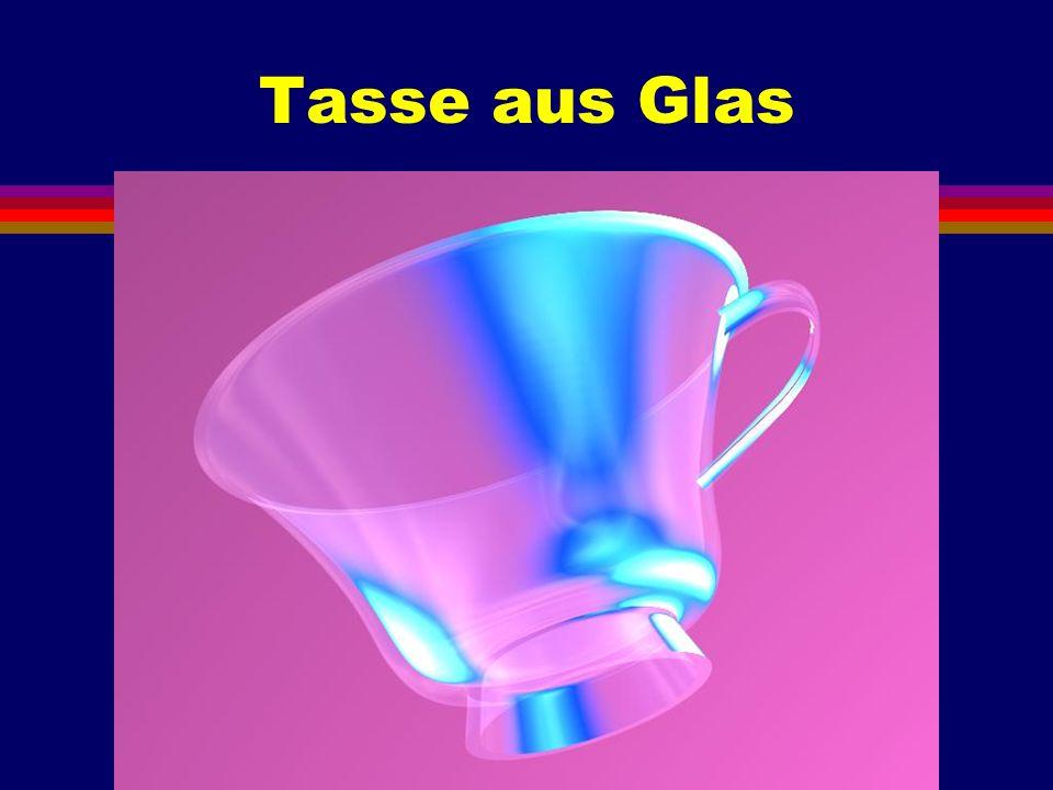 Tasse aus Glas