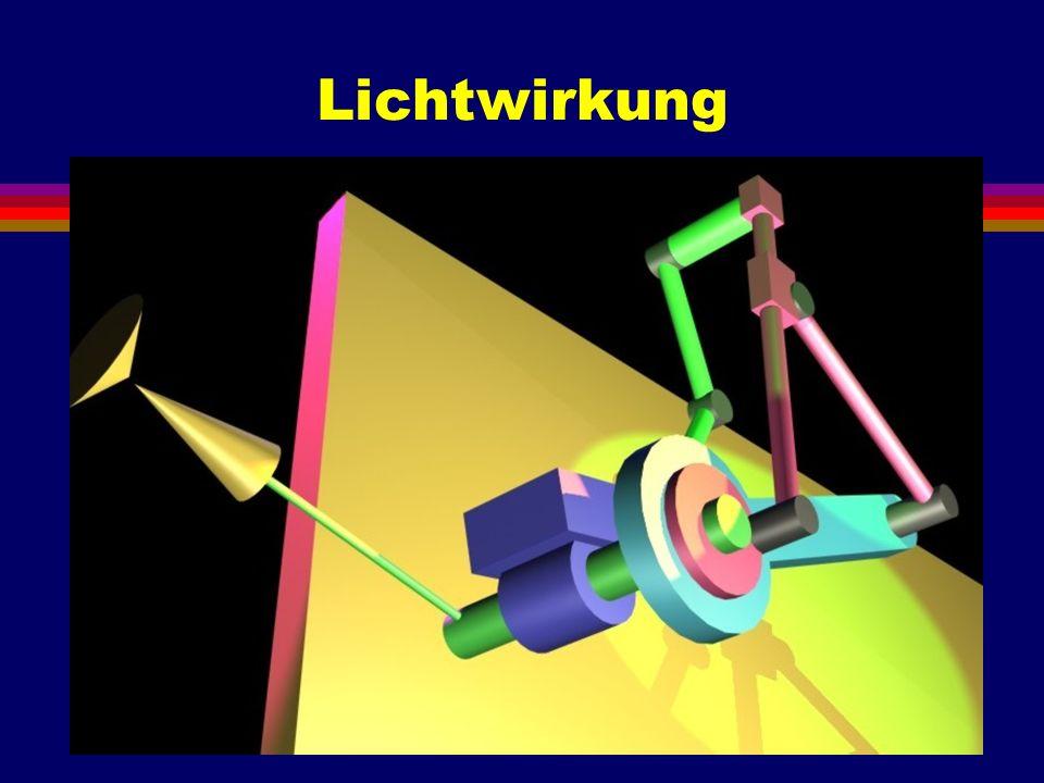 Animation l Eine Animation ist ein zeitabhängiges Modell: Mit der laufenden Zeit ändert sich das Modell.