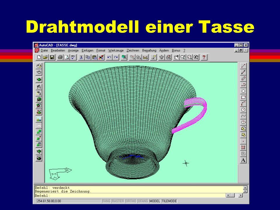 Drahtmodell einer Tasse