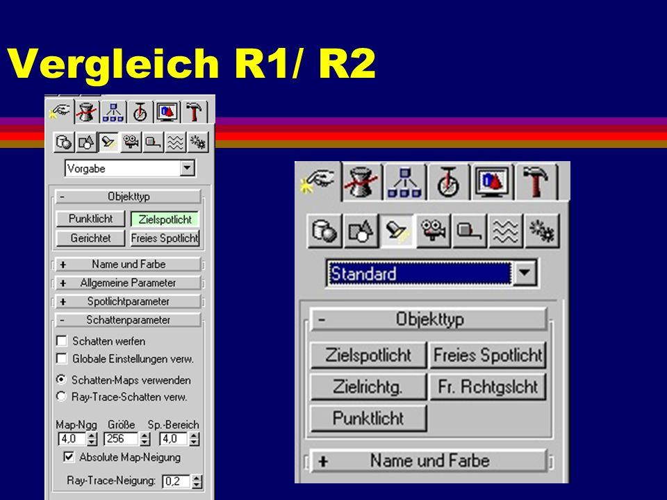 Vergleich R1/ R2