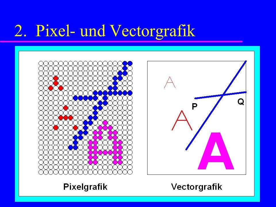 2. Pixel- und Vectorgrafik