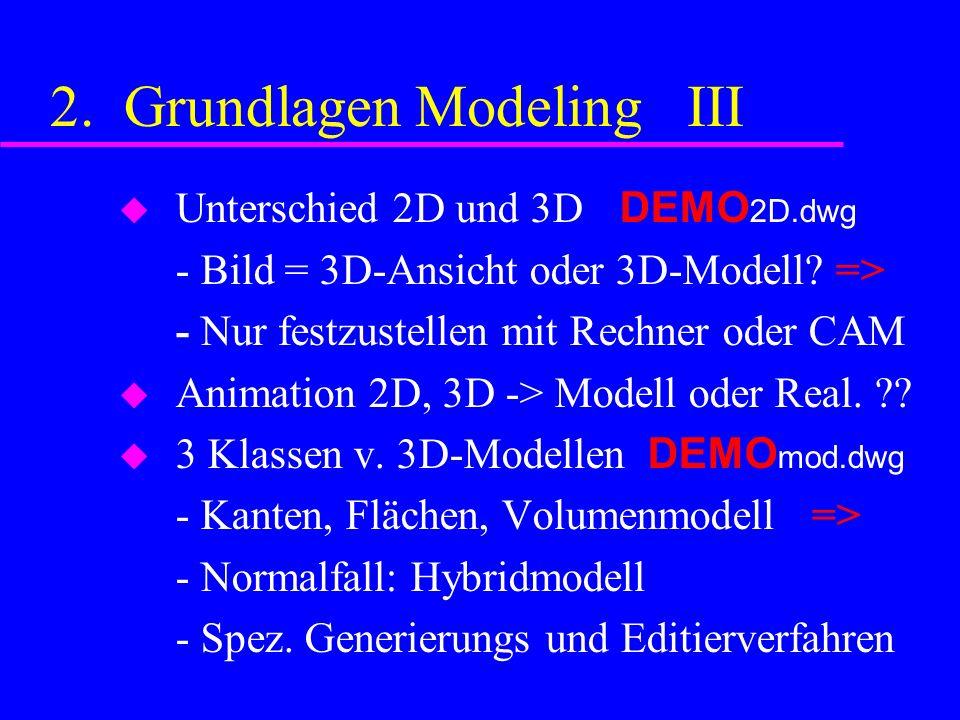2. Grundlagen Modeling III Unterschied 2D und 3D DEMO 2D.dwg - Bild = 3D-Ansicht oder 3D-Modell.